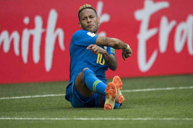 Reações de Neymar na Copa da Rússia