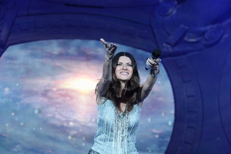 A cantora italiana Laura Pausini