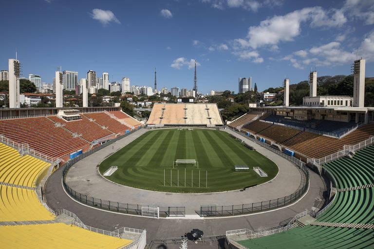 Vista geral do estádio do Pacaembu